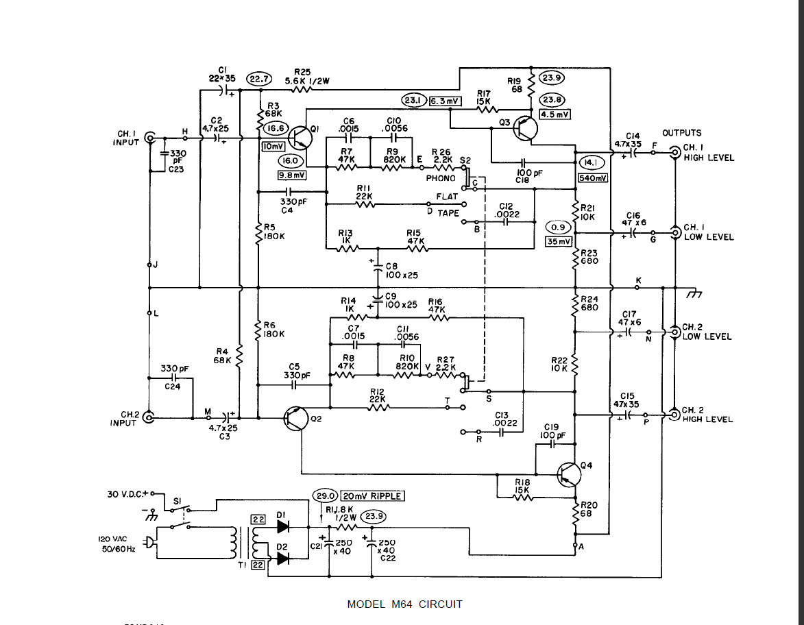 Mic Preamp Circuit For Shure Microphone Wire Schematic Diagram Circuits Audio Schematics M64 As A Gearslutz Pro Community Pcb Jack And