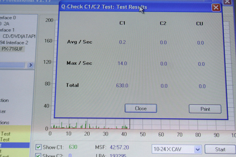 Plextools Test Results, HELP! - Gearslutz