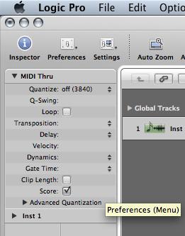 How do I turn off MIDI input quantize in Logic? - Gearslutz