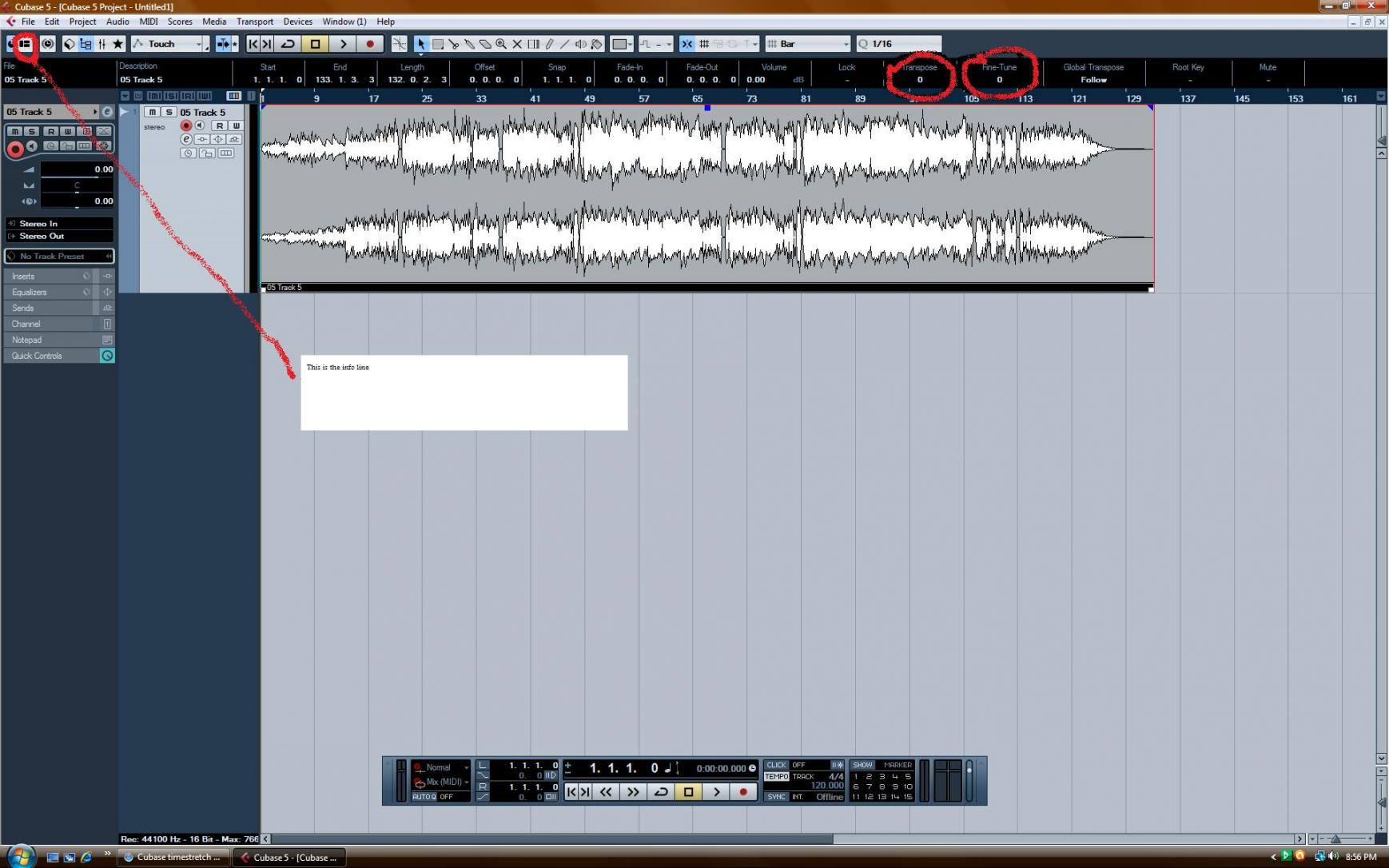 Pitch Shifting in Cubase elements 6? - www steinberg net