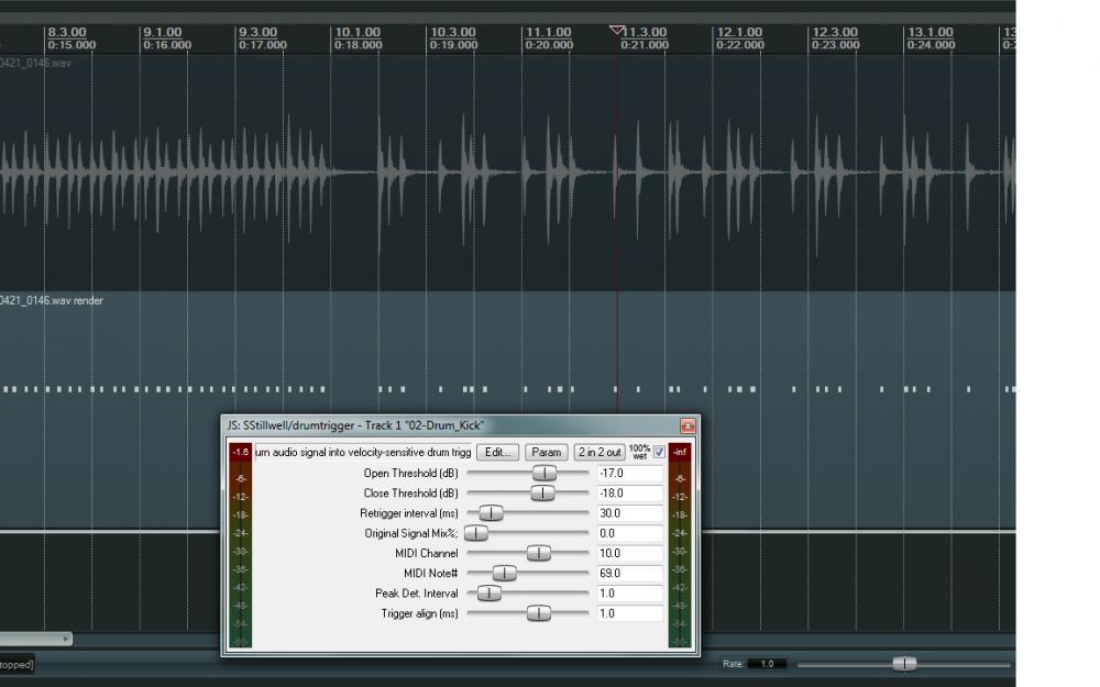 converting drum trigger audio to midi itb gearslutz pro audio community. Black Bedroom Furniture Sets. Home Design Ideas