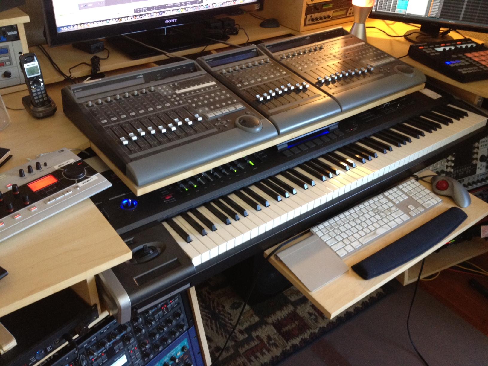 My Custom Built Production Desk With A Sliding 88 Key