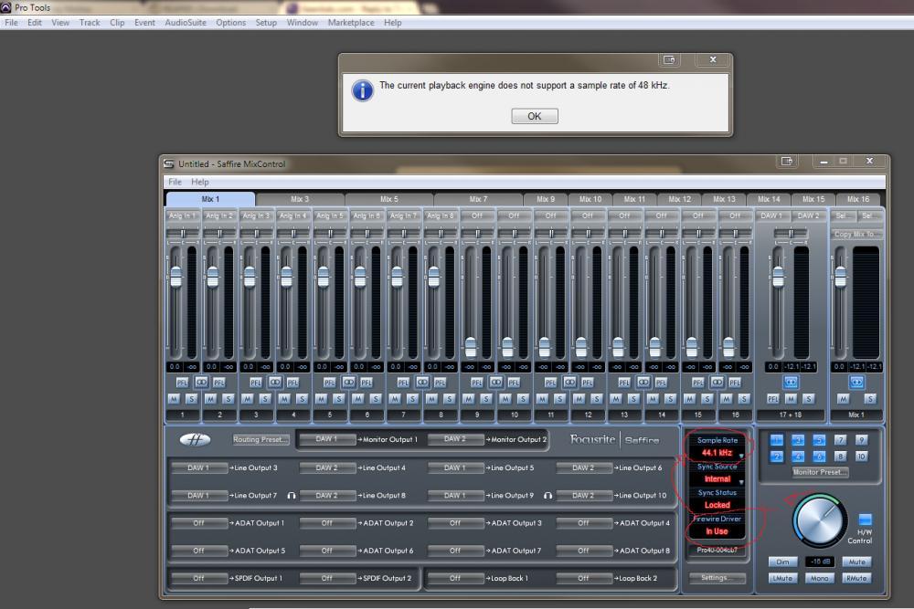 Focusrite Saffire Pro 14 & Pro Tools 10 - Audio Clock / Sample ...