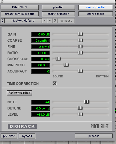 in PT 7 4, the Digi Pitch shift plugin is missing   is it supposed
