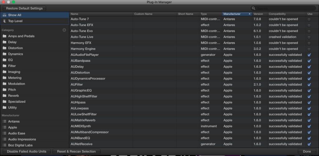 Antares Plug ins couldn't be opened Logic Pro X - Gearslutz