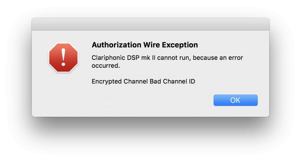 iLok Authorization Wire Exception - Gearslutz