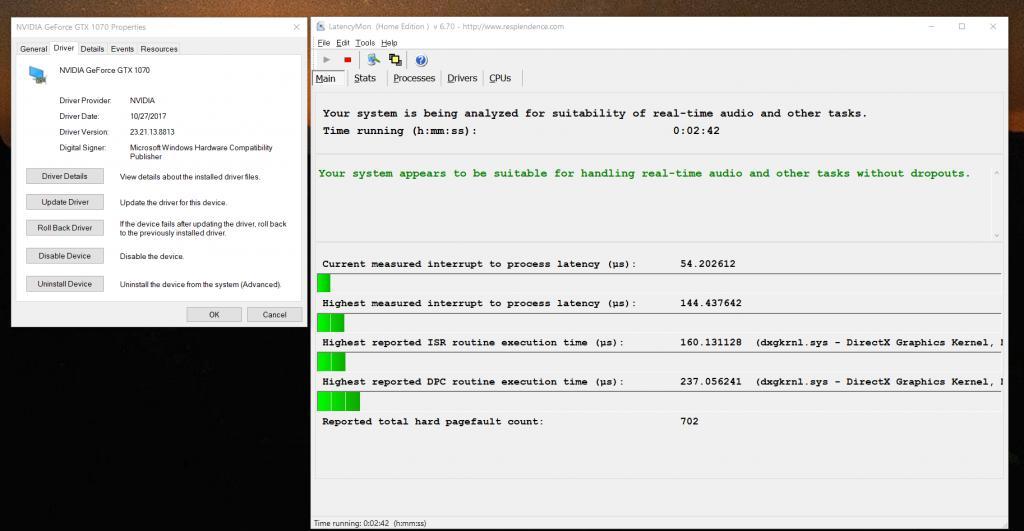 Low DPC latency Nvidia drivers? - Gearslutz