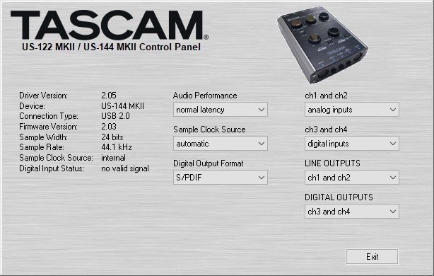 Tascam US144mkII, Windows audio and Presonus Studio One 4  - Gearslutz
