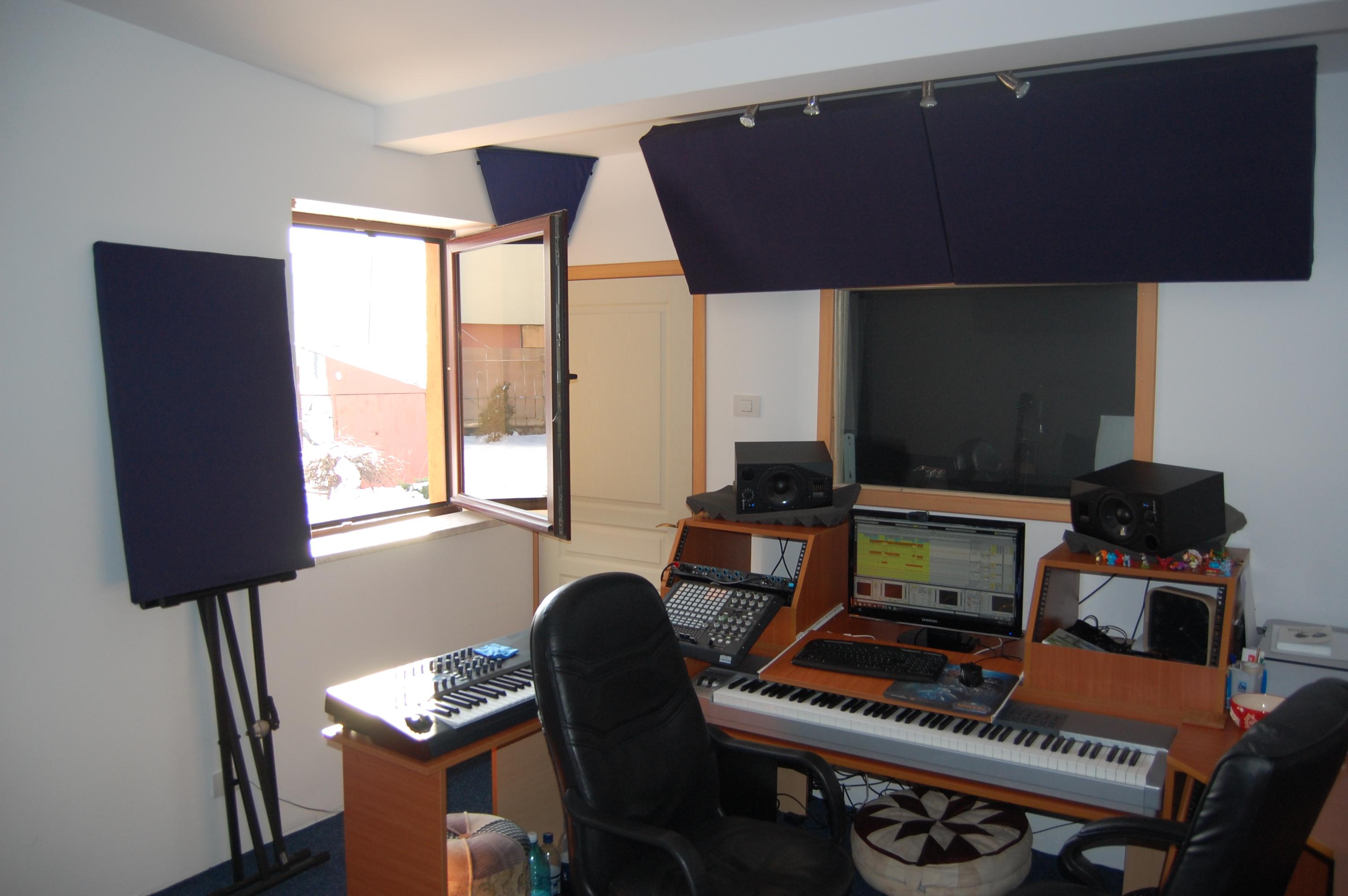 Garage music studio for Garage con studio