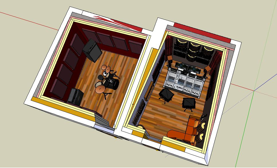 ... Small Professional Home Recording Studio In Italy Progetto Hss_3 ...
