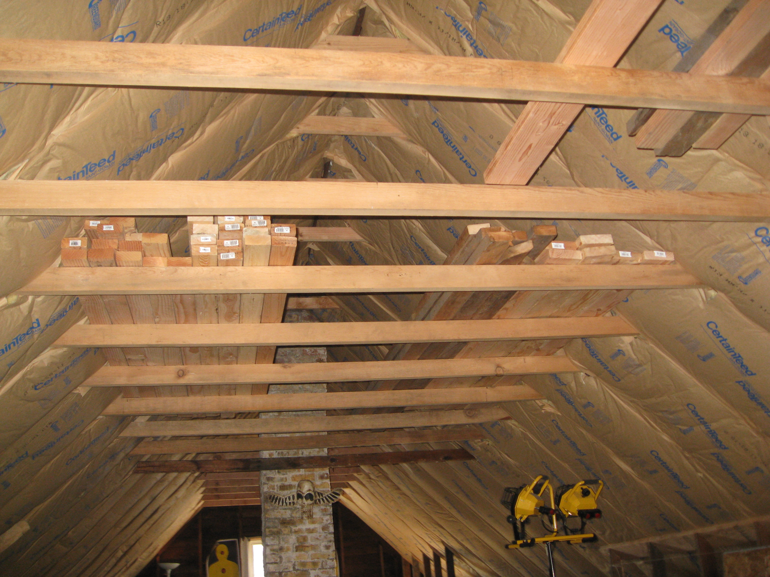 rfz based control room in an a frame attic lumber suppliesjpg