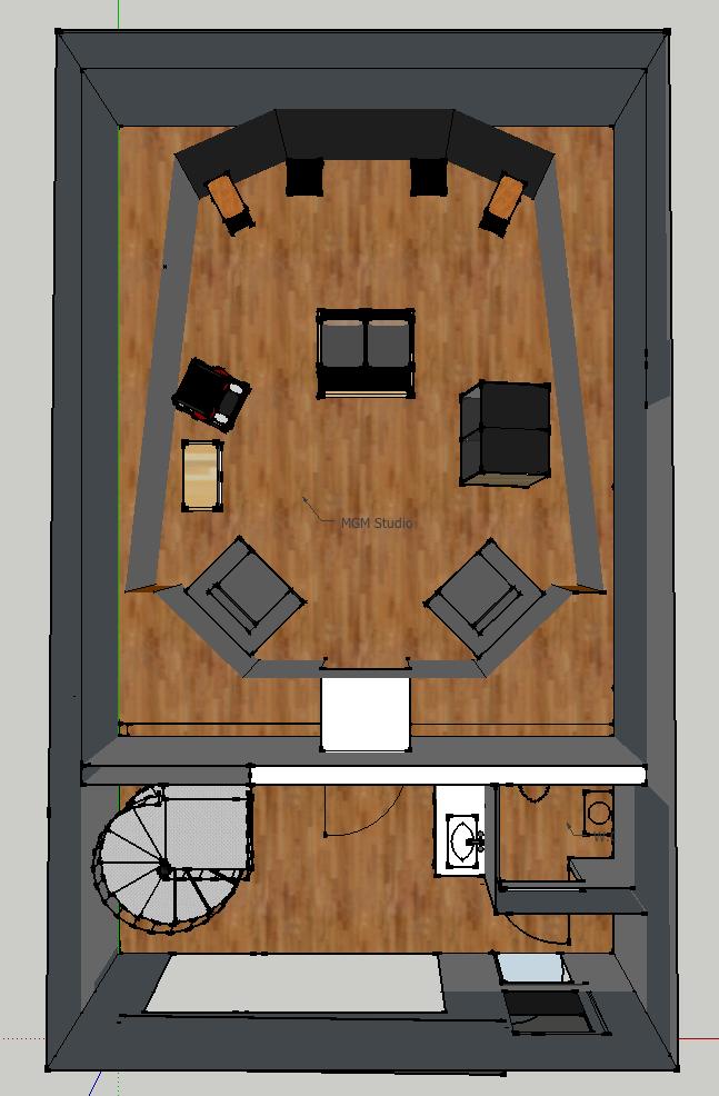 Matthew gray mastering new room build gearslutz pro for Best studio layouts