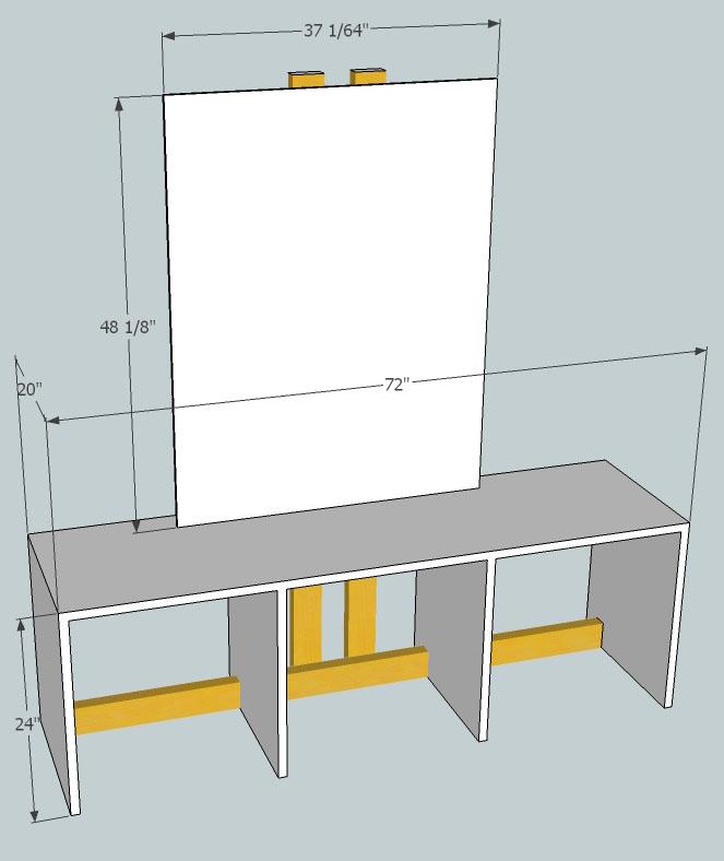 Diy Led Studio Light: My DIY Simple Desk With Vertical Rise For Video Mounts