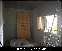 Canvas Sound Studio build, Wirral-acoustic-membrane-going-up.jpg