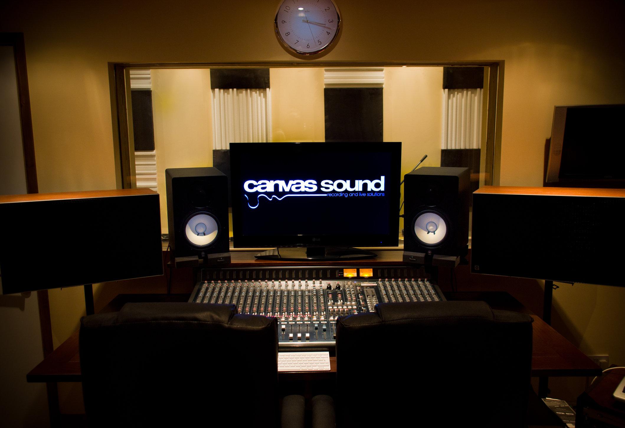 Canvas sound studio build wirral control room desk1 jpg