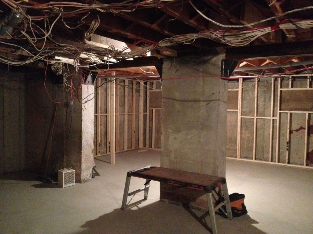 Integrating Small Home Studio Into Big Basement Reno Gearslutz Wiring Unfinished Electrical Diy Chatroom Img 4151