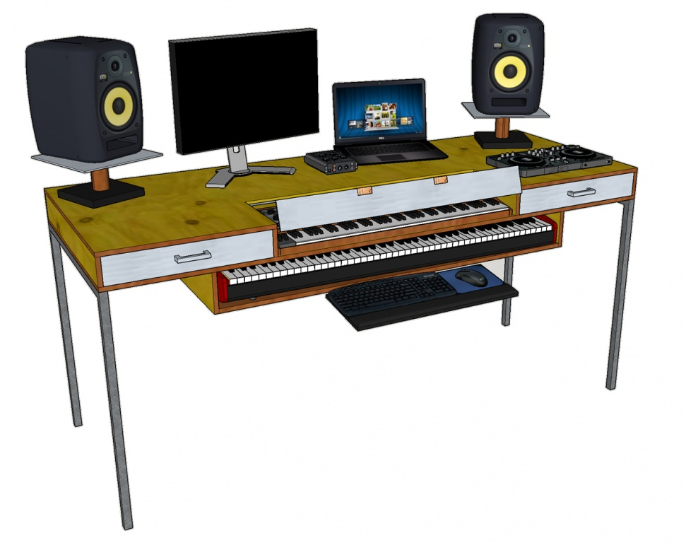 Charmant DIY Studio Desk Design U0026amp; Build Studio Bureau_1