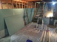 Basement Studio in Upstate New York-walls-begin.jpg