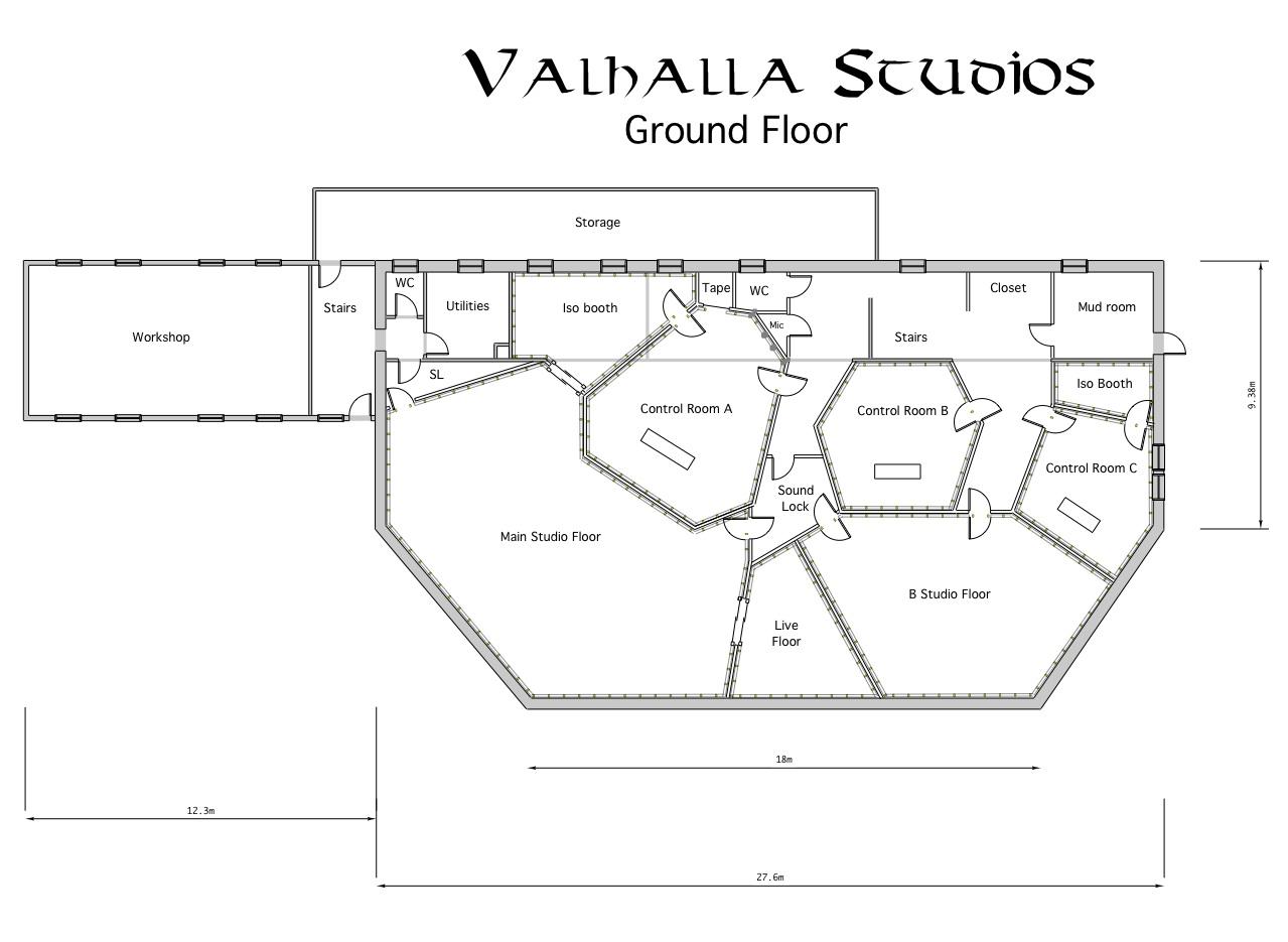 Stupendous Recording Studio Design Floor Plans Largest Home Design Picture Inspirations Pitcheantrous