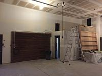 RV Garage - conversion to Recording Studio!-walkway-after-mudding-taping-1.jpg