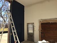 RV Garage - conversion to Recording Studio!-garage-door-flanks-being-painted.jpg