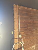RV Garage - conversion to Recording Studio!-wood-wall-before-1.jpg
