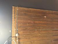RV Garage - conversion to Recording Studio!-wood-wall-before-2.jpg