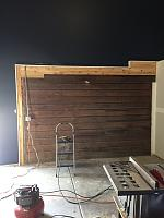 RV Garage - conversion to Recording Studio!-wood-wall-before-6.jpg