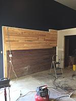 RV Garage - conversion to Recording Studio!-wood-wall-before-7.jpg