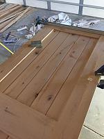 RV Garage - conversion to Recording Studio!-reclaimed-door-glued-1.jpg