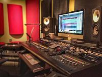 2 car garage Mixing Room-color-desk.jpg