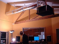 Here she is in all her glory....new studio, ain't she purty?-ceiling-.jpg