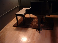 Here she is in all her glory....new studio, ain't she purty?-piano.jpg