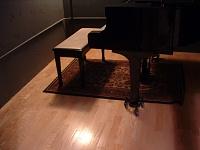 Here she is in all her glory....new studio, ain't she purty?-piano.jpg