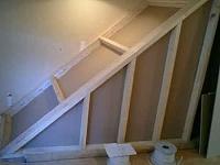 Jules' studio build project-halfcoverdstairs.jpg