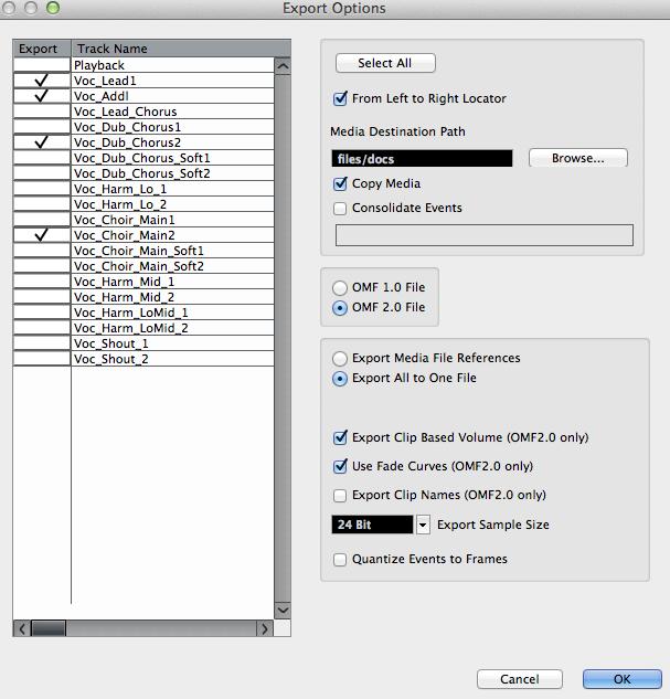 Nuendo OMF files to ProTools - Gearslutz