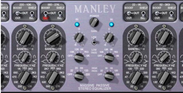 recording studio mastering EQ
