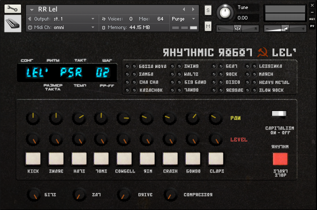 rhythmic robot release lel 8 bit soviet drum machine gearslutz pro audio community. Black Bedroom Furniture Sets. Home Design Ideas