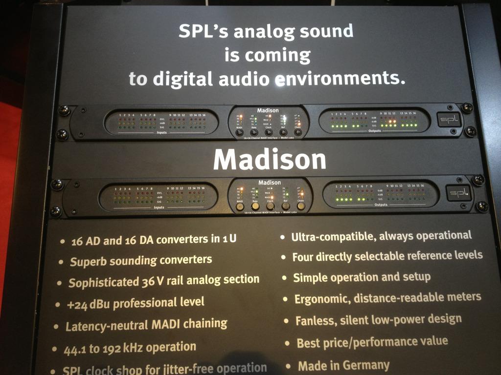 Musikmesse: SPL MADISON - 16+16 Channel MADI Interface