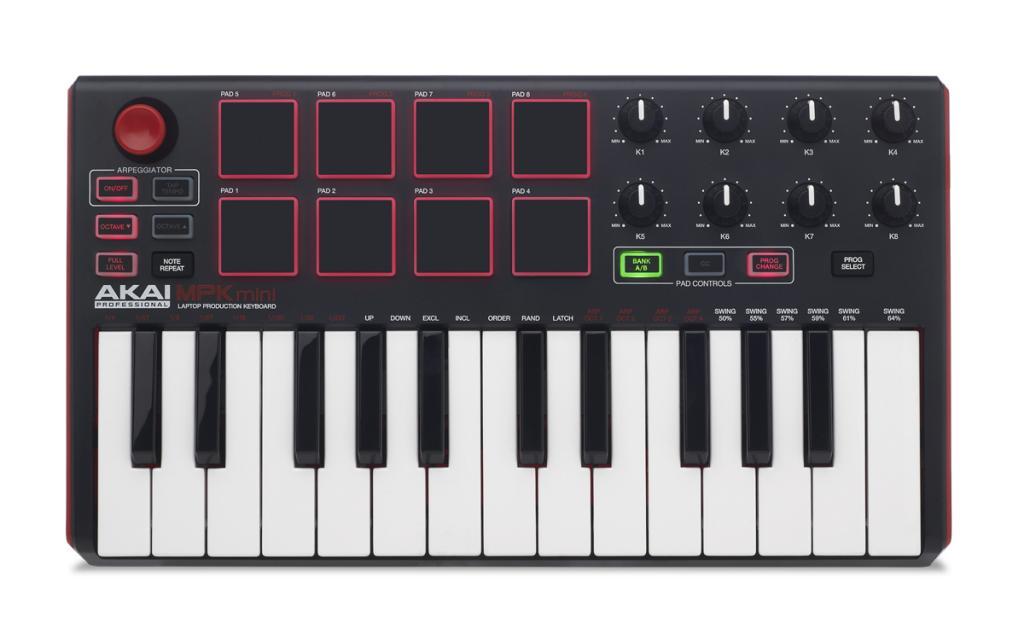 Akai Pro MPK Mini, MPK225, MPK249, MPK261 Keyboard Controllers