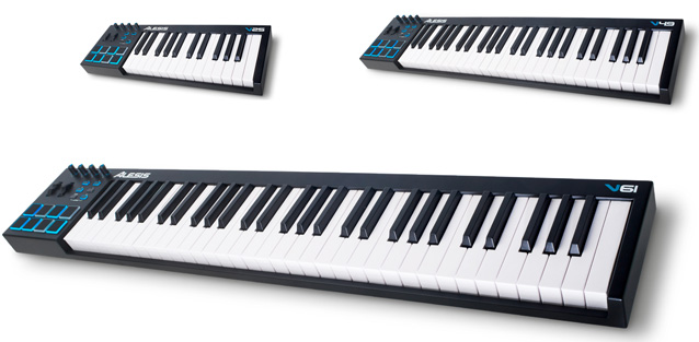 namm 2014 alesis unveils the v and vi series keyboard controllers gearslutz. Black Bedroom Furniture Sets. Home Design Ideas