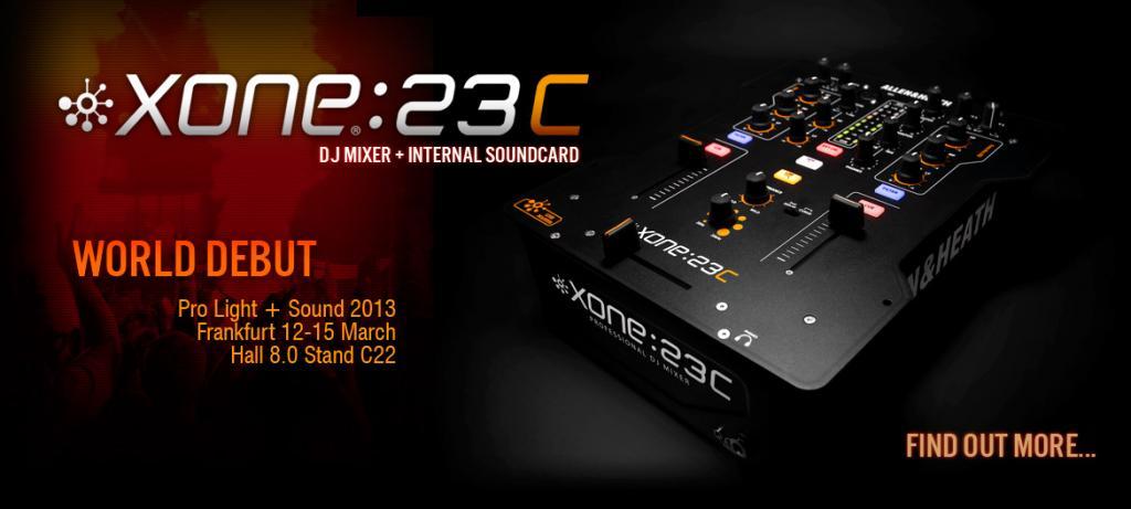 gearslutz messe 2014 allen heath introducing the xone 23c dj mixer. Black Bedroom Furniture Sets. Home Design Ideas