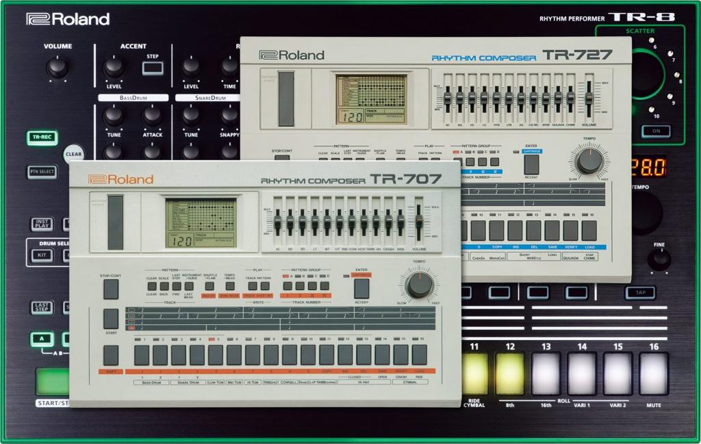 roland annouces 7x7 tr8 drum machine expansion for tr 8 gearslutz