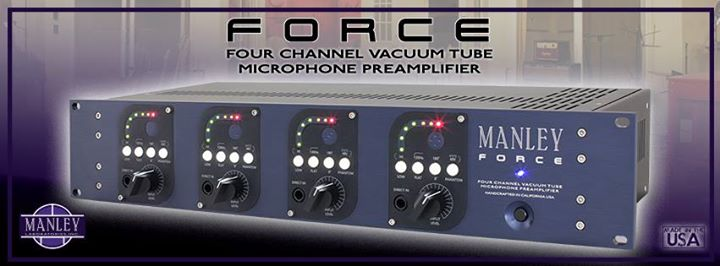namm 2015 manley labs force, 4 channel vacuum tube mic