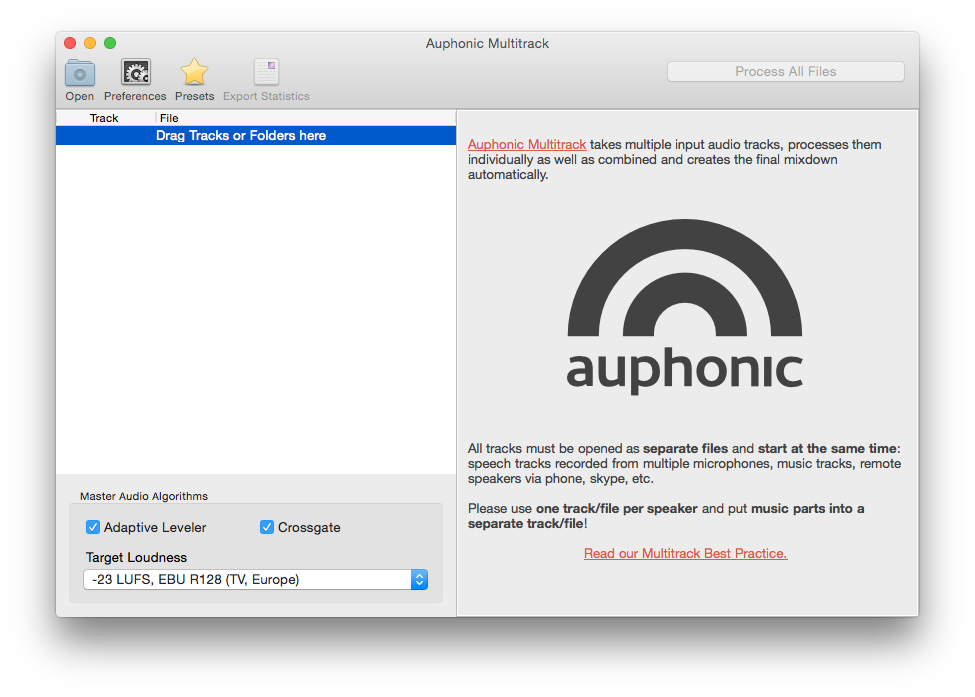 Auphonic multitrack automatic multitrack mixing and post for The craft of research audiobook