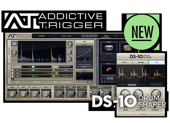 XLN Audio Addictive Trigger & DS-10 Drum Shaper available