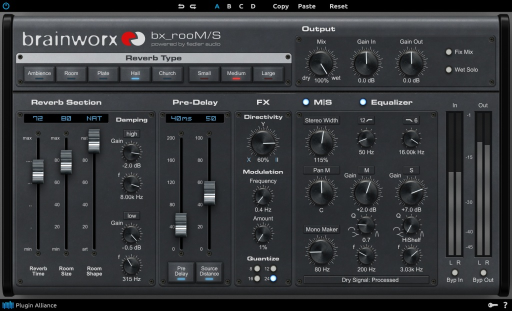 PLUGIN ALLIANCE AND BRAINWORX ROLL OUT M/S-POWERED REVERB PLUGIN