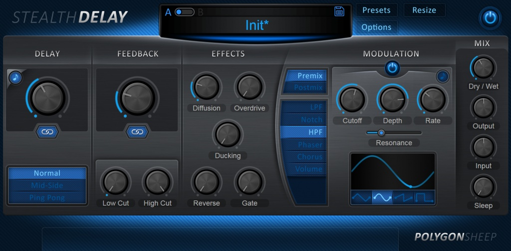 PolygonSheep releases Stealth Delay multi-effect delay for