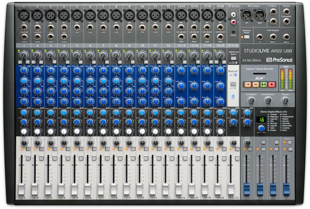 Presonus Announces Studiolive Ar22 Usb Hybrid Mixer