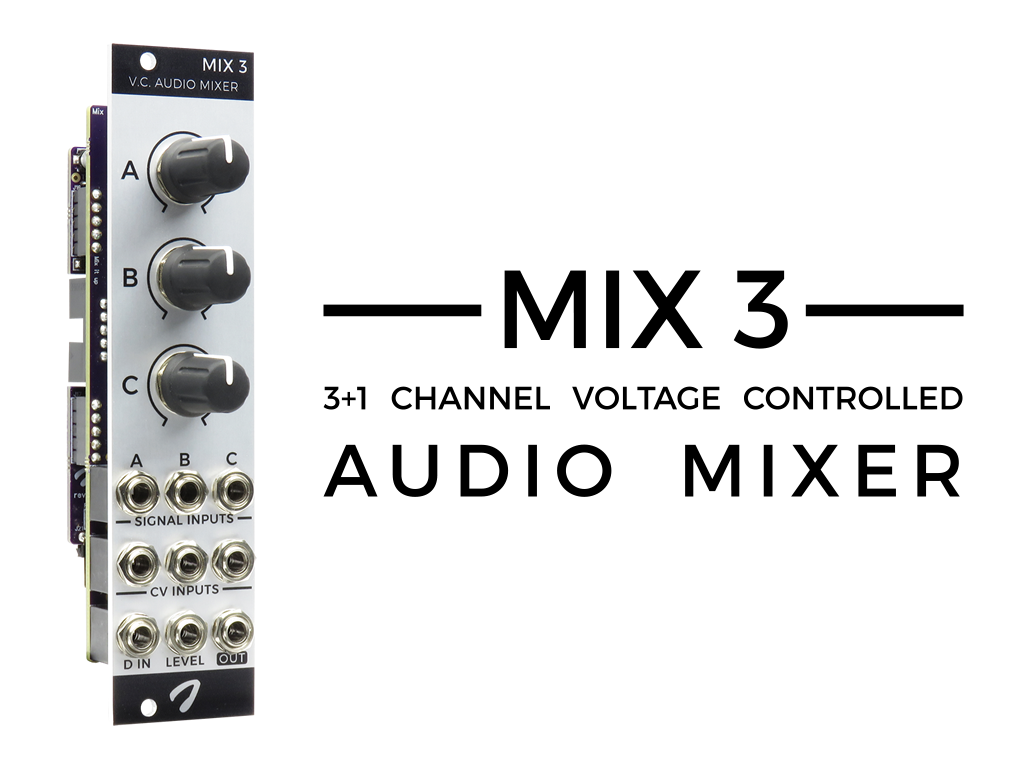 Joranalogue Mix 3 1 Channel Voltage Controlled Audio Mixer